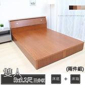 床組/ 床底+床箱 / 5尺雙人床底(三分板)  / 非掀床 台灣製造  四色可選 新竹以北免運 10-1愛莎家居