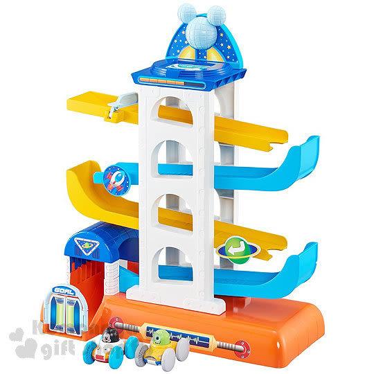 〔小禮堂〕迪士尼 立體翻滾小車玩具組《藍.盒裝》適合1.5~5歲兒童 4904810-85594