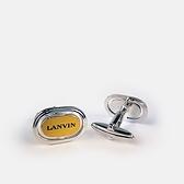 LANVIN字母LOGO双色金屬袖扣(銀色)880062-02