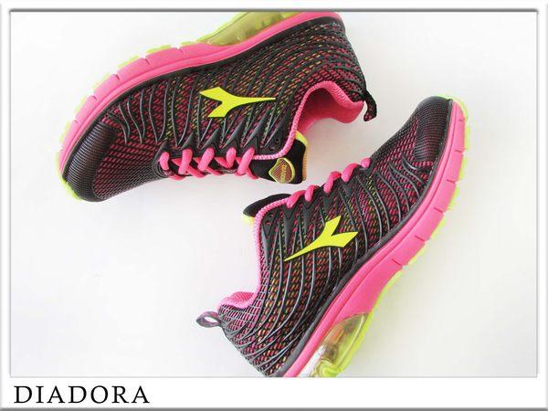 『雙惠鞋櫃』◆DIADORA迪亞多那 ◆ 女款 氣墊運動慢跑鞋 ◆ (DA2792) 黑紅