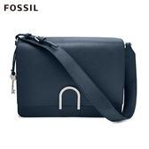 FOSSIL Finley 深藍色雙格層時尚真皮方包
