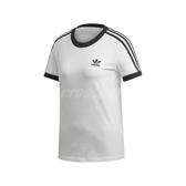 adidas 短袖T恤 3-Stripes Tee 白 黑 女款 運動休閒 短T 【PUMP306】 ED7483