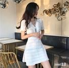 針織洋裝OL初戀裙子仙女超仙森系收腰顯瘦...