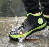 雨靴 雨鞋男低筒時尚男士雨鞋雨靴防滑膠鞋夏季短筒防水外賣雨鞋 非凡小鋪