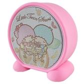 小禮堂 雙子星 圓形無線藍牙喇叭 藍牙音響 藍牙音箱 (粉藍 餐桌) 4710810-64994