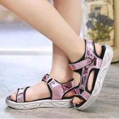 2019韓版新款女童涼鞋夏季小女孩學生中大童鞋子兒童公主沙灘鞋