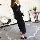 *UOU精品*韓 質感套裝條紋毛衣兩件套寬鬆套頭針織上衣+長褲/3色/Z011