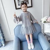 女童洋裝 童裝女童秋裝連身裙2021新款兒童網紅洋氣春秋公主裙長袖女孩衛衣 百分百