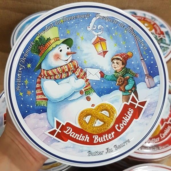 (丹麥)聖誕節奶酥餅乾禮盒 丹麥皇后奶酥餅 奶油味(Butter Cookies) 1盒150公克