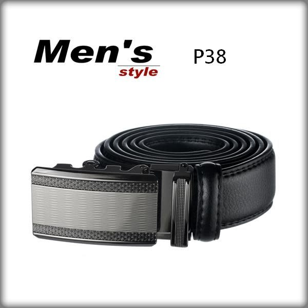 vivi領帶~ 男飾配件之// 韓風 紳士皮帶~自動牛皮皮帶 P38