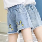 女童牛仔短褲外穿夏季薄款年中大童夏裝百搭褲子兒童洋氣熱褲 中秋節