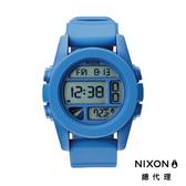 NIXON UNIT 運動玩家電子錶 水藍 潮人裝備 潮人態度 禮物首選 (曾之喬款)