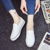 一腳蹬懶人鞋女韓版學生帆布鞋平底女鞋子百搭ulzzang原宿ins板鞋