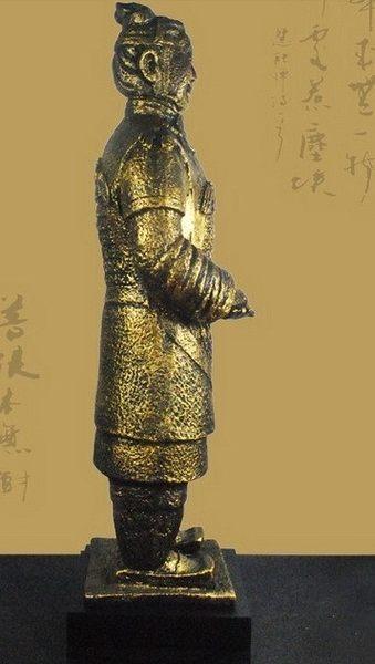 [協貿國際]將軍俑青銅色居家擺飾單個價