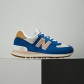 New Balance 女 藍粉 麂皮 復古 運動 慢跑 休閒鞋 WL574NU2