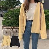 針織開衫 春秋新款百搭慵懶風百搭很仙的奶黃色針織毛衣外套女開衫寬鬆 雙十二全館免運