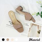跟鞋 菱格紋粗跟鞋 MA女鞋 T3576