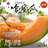 『蕎見果物』日本北海道紅肉哈密瓜單顆禮盒/約1.5KG