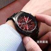 男士防水鋼帶手錶時尚潮流休閒石英錶學生正韓時裝皮帶腕錶