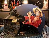 卡通安全帽,CA110,航海王/消光藍,附抗UV-PC安全鏡片