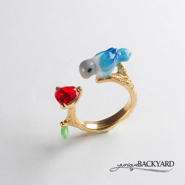 yuniqueBACKYARD 鸚鵡紅寶石戒指
