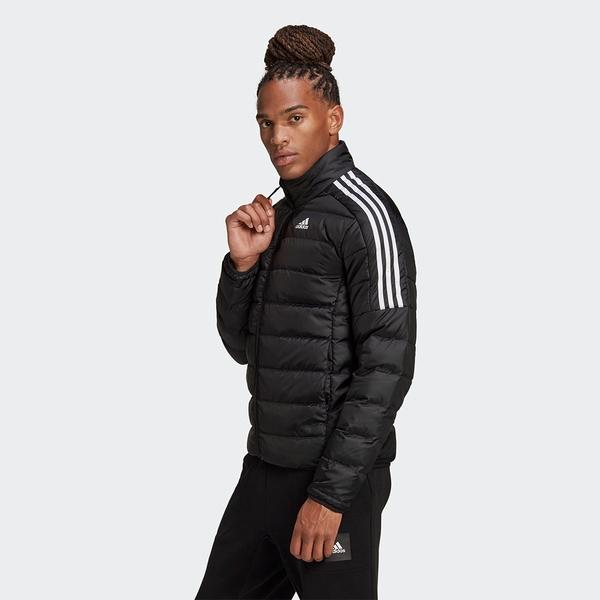 Adidas Essentials Down 男裝 羽絨外套 立領 休閒 保暖 口袋暗扣 彭于晏 黑【運動世界】GH4589