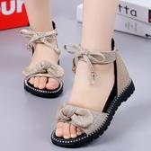 女童涼鞋 女童涼鞋2020新款時尚韓版中大夏季軟底兒童鞋小公主女孩羅馬涼鞋 小宅女