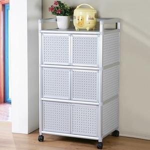 Homelike 鋁合金2尺六門收納櫃