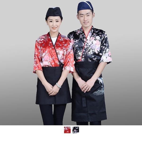 晶輝專業團體制服*CH110*日式溫泉飯店女竹子印花日本料理廚師服餐廳服務員工作服壽司