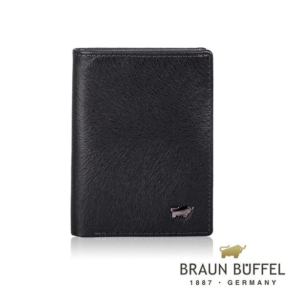 【BRAUN BUFFEL】台灣總代理 防盜3卡名片夾-馬毛黑/BF324-N402-BK