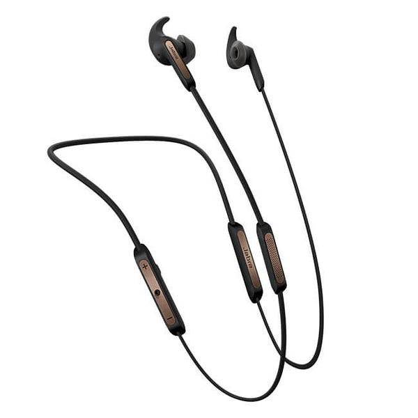 公司貨『 Jabra Elite 45e 銅黑 』藍芽耳機/耳道頸掛式藍牙/立體音效/磁吸式/IP54防塵防水保固2年