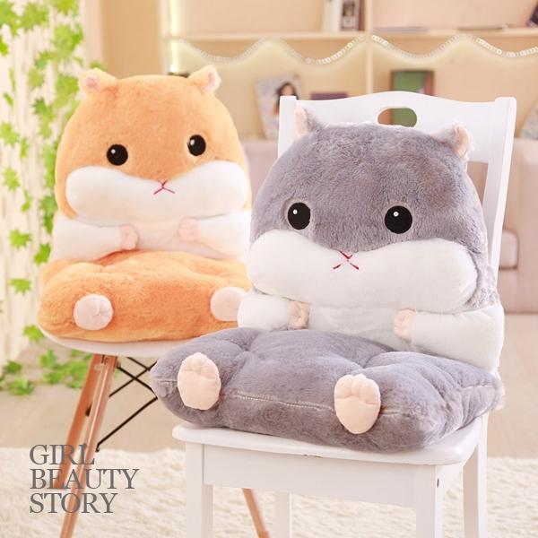 SISI【G9001】現貨萌萌可愛倉鼠絨毛玩偶娃娃多用暖手枕連體座墊靠墊午休交換禮物情人節