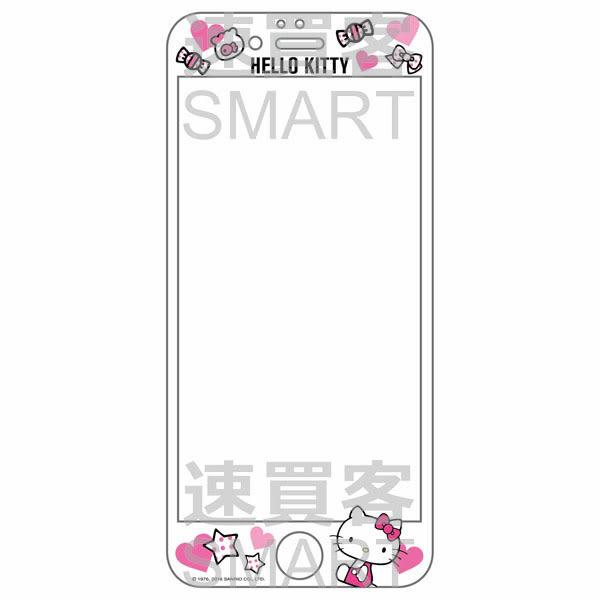 Hello Kitty 三麗鷗正版授權 3D曲面滿版 iPhone6(4.7) 浮雕玻璃螢幕貼