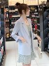 西裝外套 白色雪紡小 女薄款夏季設計感小眾2021年新款西服上衣防曬