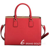 DOLCE & GABBANA Sofia Bag 壓紋牛皮兩用提包(紅色) 1430458-54