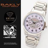 【完全計時】手錶館│BAKLY美國意念 多功能穩重時尚風格錶 BA7013-1ST 41mm 藍寶石玻璃