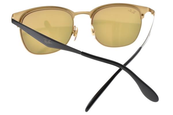 RayBan 水銀太陽眼鏡 RB3538 1872Y (黑金-粉水銀) 超人氣百搭眉框款 # 金橘眼鏡