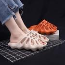 洞洞鞋 情侶拖鞋女夏外穿時尚防滑厚底網紅拖鞋ins潮踩屎感涼拖女洞洞鞋