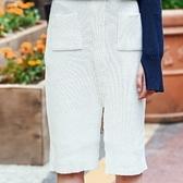 棉質長裙-歐風純色性感針織女裙子2色73hv38【時尚巴黎】
