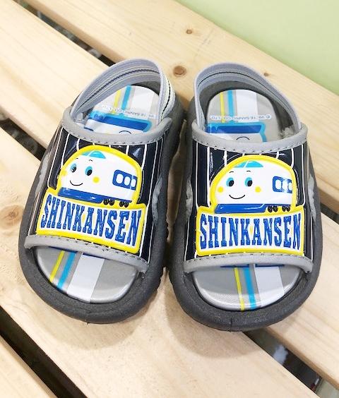 【震撼精品百貨】Shin Kan Sen 新幹線~台灣製正版兒童拖鞋-深藍線條(13~18號)#16860