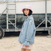 牛仔外套女寬鬆韓版學生bf夾克春裝港味復古chic上衣       伊芙莎