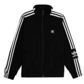 ADIDAS ORIGINALS LOCK UP TRACK JACKET 黑 白logo 立領 外套 女(布魯克林) ED7538
