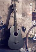 吉他38寸吉他民謠吉他木吉他初學者入門級練習學生男女樂器『櫻花小屋』