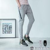 運動風防水拉鍊束口褲【T20196】OBIYUAN JOGGER棉質休閒褲 共2色