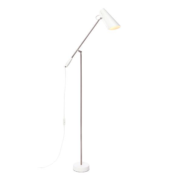 挪威 Northern Lighting Birdy Floor Lamp 博蒂系列 懸臂 立燈(白色款 - 霧銀支架)