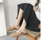 包頭半拖鞋2020春季韓版新款網紅拖鞋女外穿時尚穆勒鞋懶人涼拖鞋 童趣屋