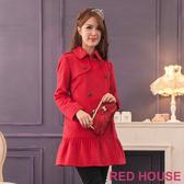 RED HOUSE-蕾赫斯-都會名媛雙排釦毛料外套(共2色)