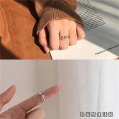 開口2顆小圓鉆雙層戒指設計指環女 易樂購生活館