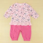 【愛的世界】彈性長袖衣連褲/3個月~1歲-台灣製- ---幼服推薦