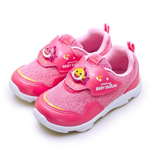 LIKA夢 Pinkfong 碰碰狐 15cm-19cm BABY SHARK 兒童電燈運動鞋 台灣製造 粉桃紅 96612 中童